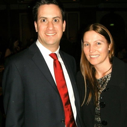 Ed Miliband (MP), Labour Leader, Scottish Gala, Hilton Hotel, Glasgow 2011 with Professor Aileen Lothian