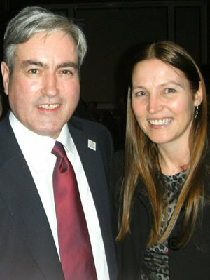 Iain Gray (MSP), Labour Leader Scotland, Scottish Gala, Hilton Hotel, Glasgow 2011 with Professor Aileen Lothian