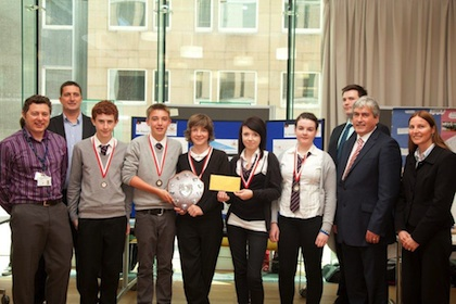 The winners for 2012 Young SET Ambassadors Wind Power Programme, St David's Roman Catholic High School, Dalkeith, Midlothian